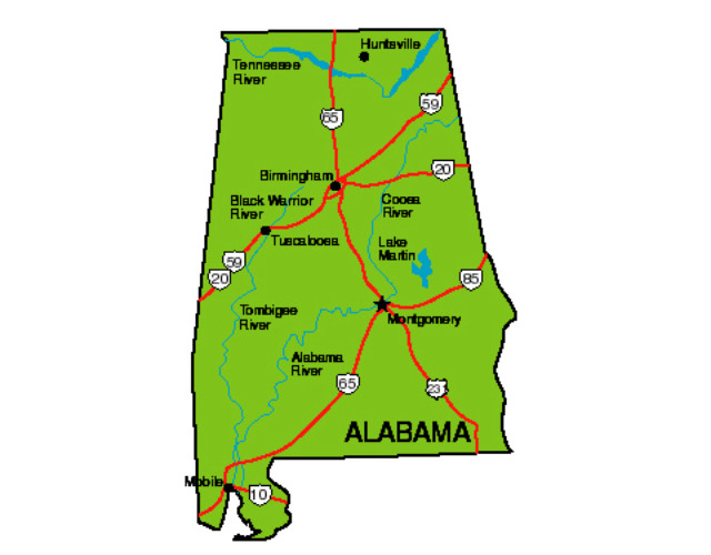 Alabama Facts Symbols Famous People Tourist Attractions – Alabama Tourist Attractions Map
