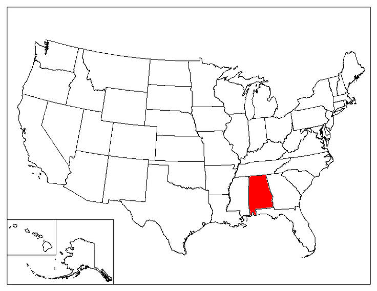 Alabama Location In The US