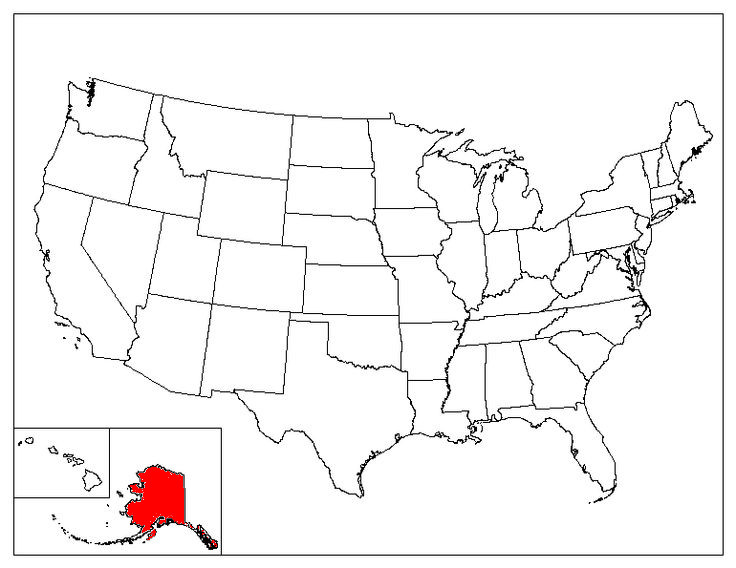 Alaska Location In The US