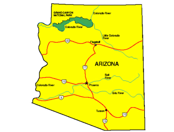 Arizona Facts Symbols Famous People Tourist Attractions