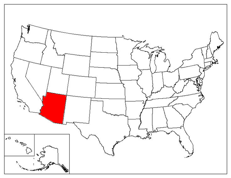Arizona Location In The US