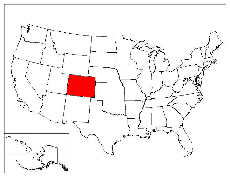 Colorado Location In The US