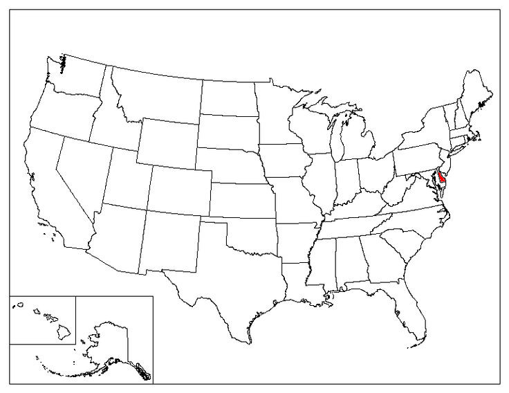 Delaware Location In The US