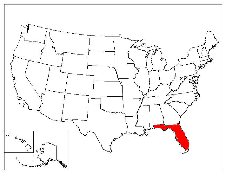 Florida Location In The US