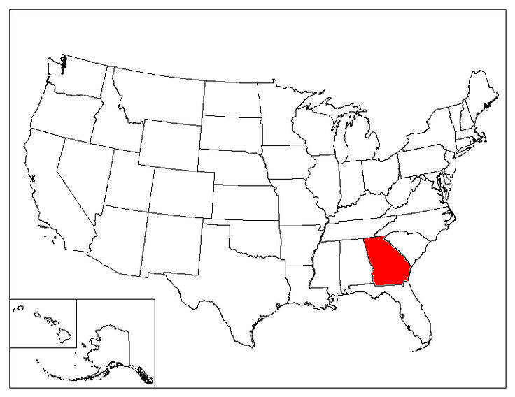 Georgia Location In The US
