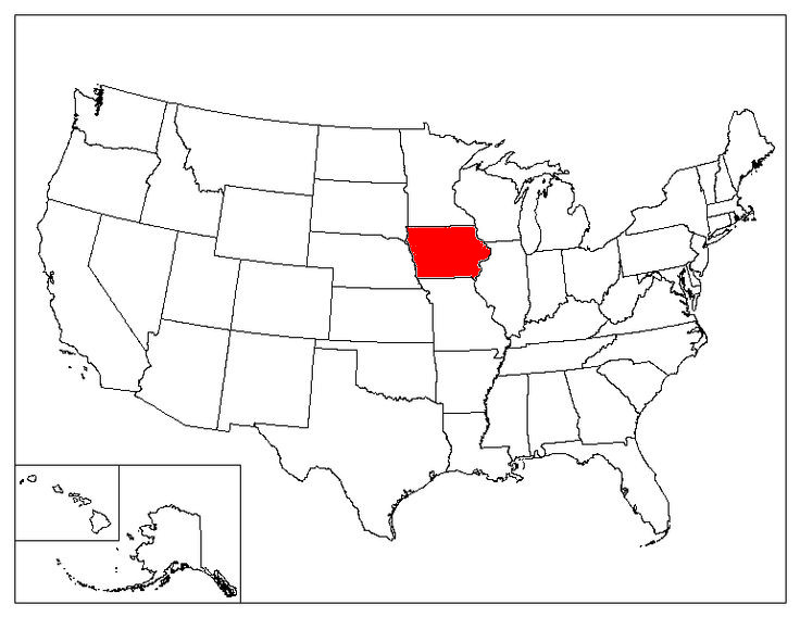 Iowa Location In The US