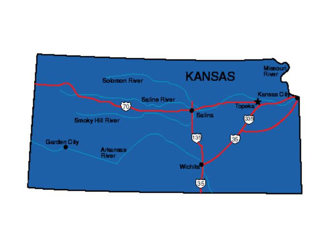 Kansas Location In The Us Kansas State Map