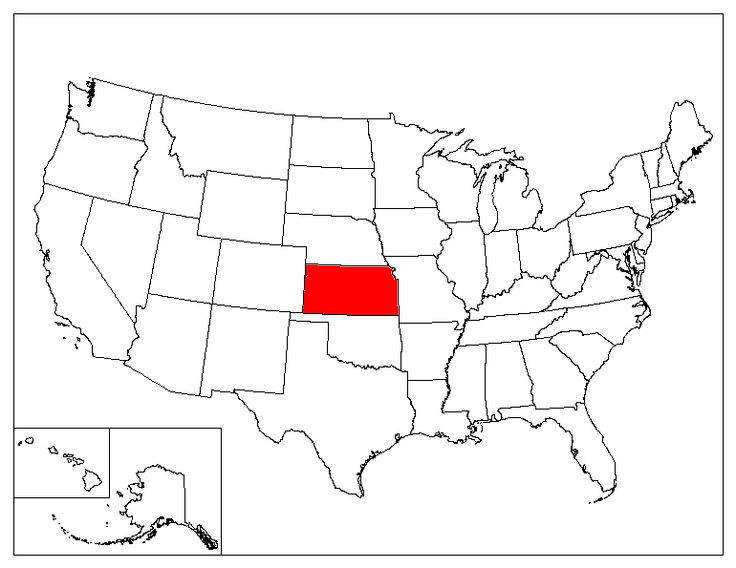 Kansas Location In The US