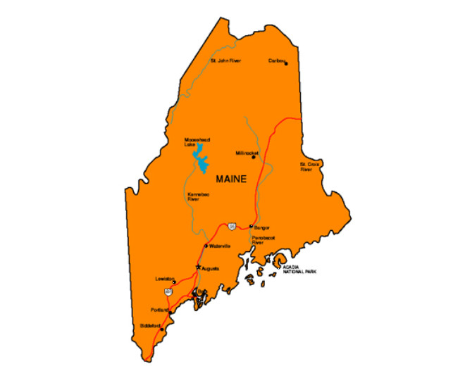 Maine Facts Symbols Famous People Tourist Attractions - Maine state map