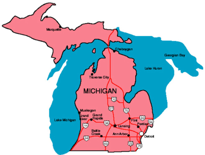 Michigan Facts Symbols Famous People Tourist Attractions – Michigan Tourist Attractions Map
