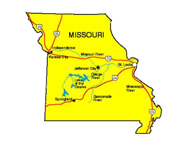 Missouri Facts Symbols Famous People Tourist Attractions - State of missouri map