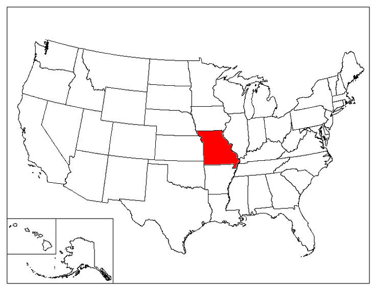 Missouri Location In The US