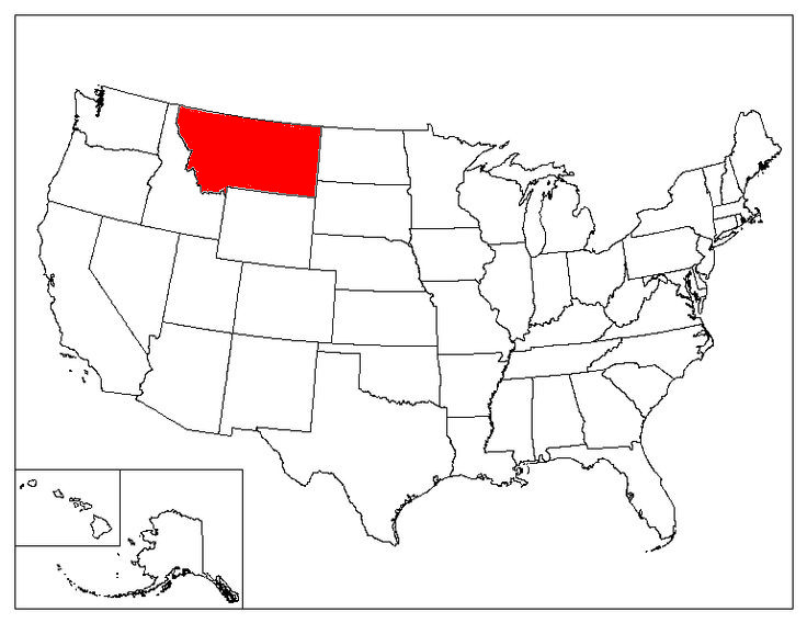 montana location in the us montana state map