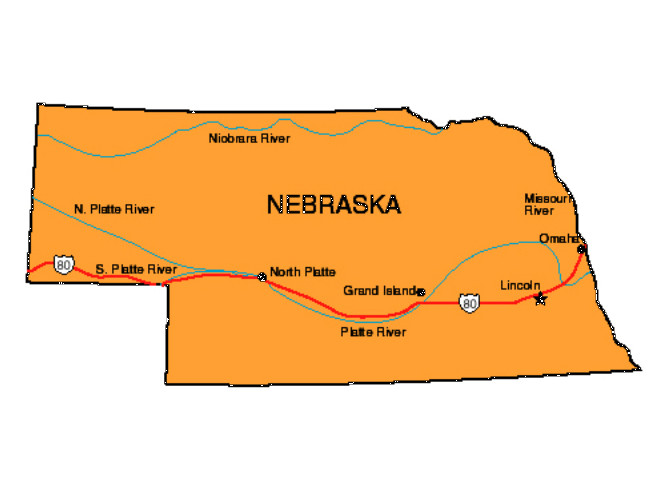 Nebraska Facts Symbols Famous People Tourist Attractions - Nebraska state map