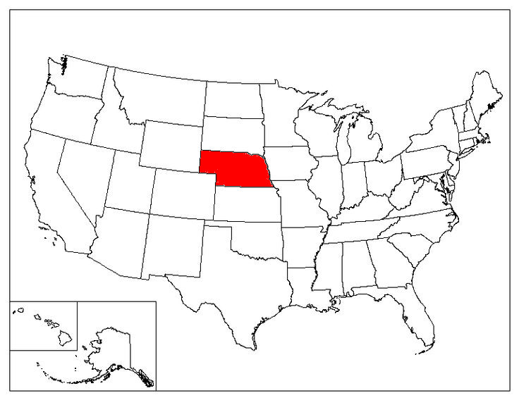 Nebraska Location In The US