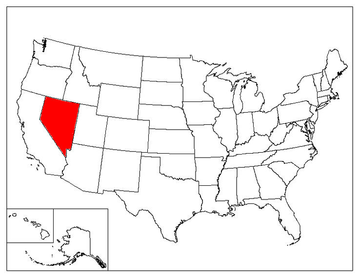 Nevada Location In The US