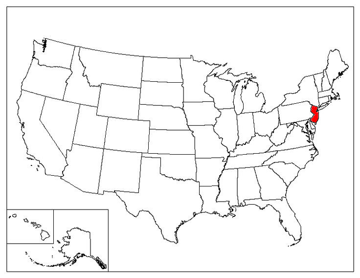 New Jersey Facts Symbols Famous People Tourist Attractions - New jersey on us map