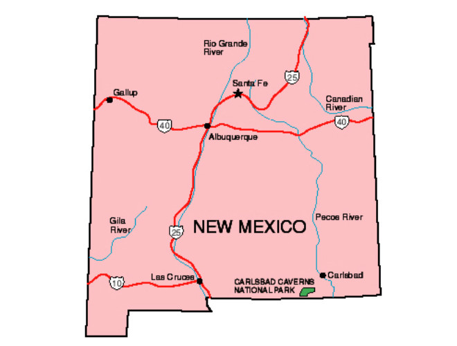 New Mexico Facts Symbols Famous People Tourist Attractions – New Mexico Tourist Attractions Map