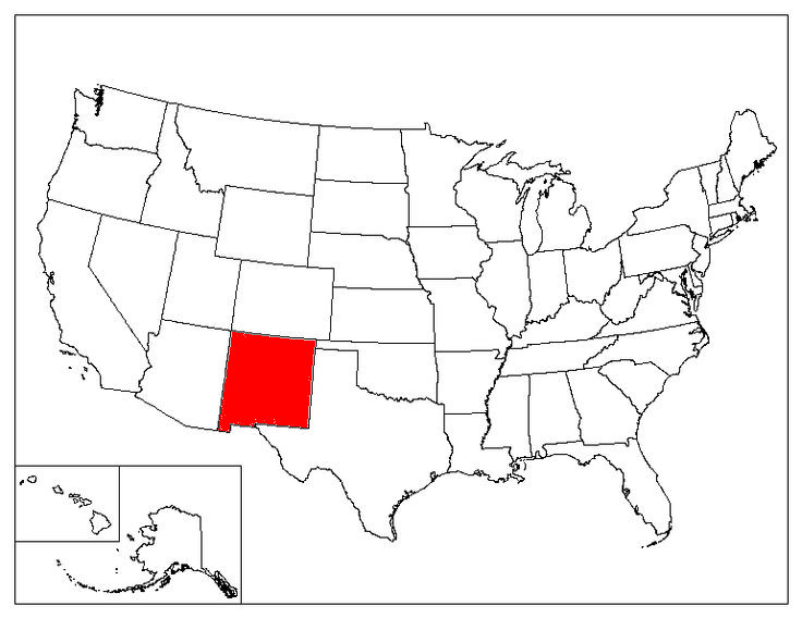 New Mexico Facts Symbols Famous People Tourist Attractions - New mexico on us map