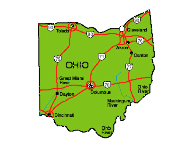 Ohio Facts Symbols Famous People Tourist Attractions – Ohio Tourist Attractions Map