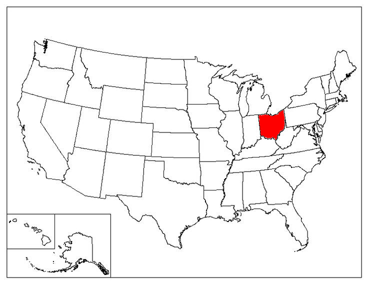 Ohio Location In The US
