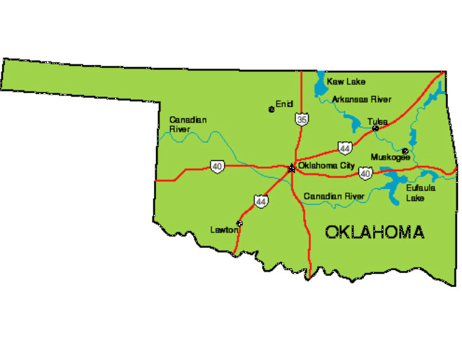 Oklahoma Facts Symbols Famous People Tourist Attractions – Tourist Attractions Map In Oklahoma