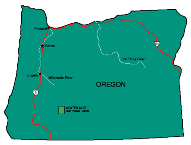 Oregon Facts Symbols Famous People Tourist Attractions - Oregon state map with cities