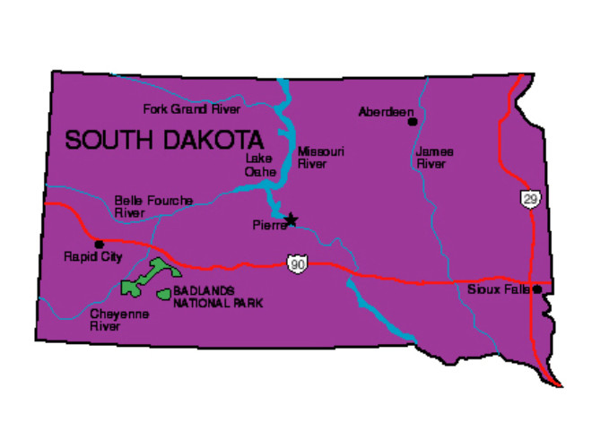 South Dakota Facts  Symbols Famous People Tourist