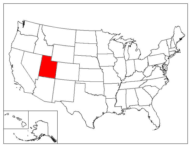 Utah Location In The US