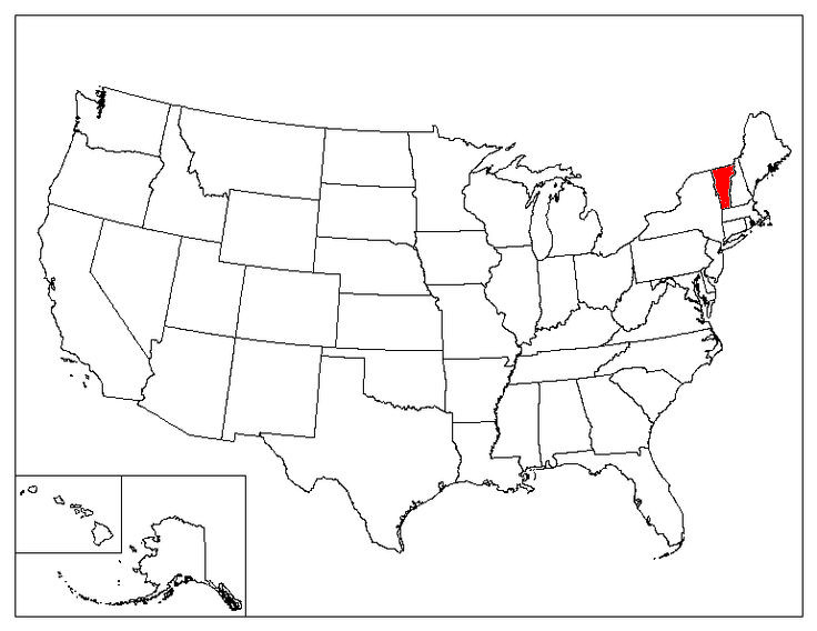 Vermont Location In The US