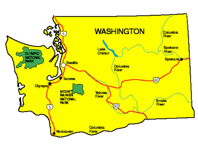 Washington Facts Symbols Famous People Tourist Attractions – Washington State Tourist Attractions Map
