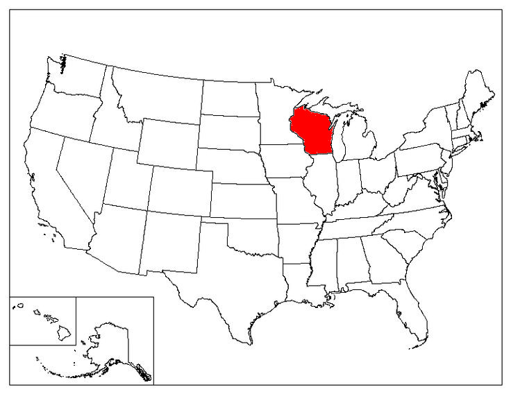 Wisconsin Location In The US